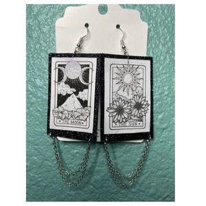 Tarot card earrings